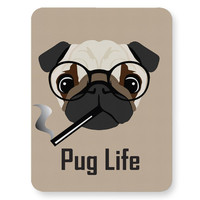 Pug Life Funny Dog illustration Mouse Pad