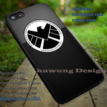 Black Agent Logo | Shield Agent | Avengers iPhone 6s 6 6s+ 6plus Cases Samsung Galaxy s5 s6 Edge+ NOTE 5 4 3 #movie #cartoon #disney #animated #marvel #comic ii