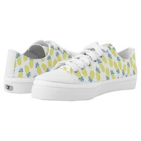 Cool Yellow Pineapples Pattern Printed Shoes