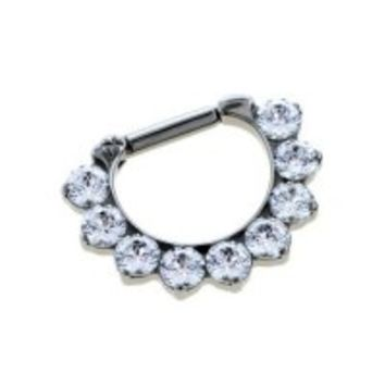 Industrial Strength Odyssey Titanium 3mm Faceted Gem Septum Clickers 16g 14g 12g [TSPRFGC10] - $174.99 : Diablo Body Jewelry, The Art of High Quality