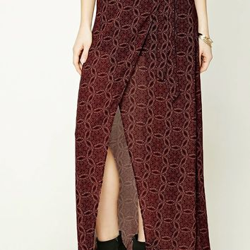 Abstract Tulip Maxi Skirt