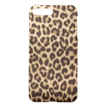 Leopard Print Clearly Deflector iPhone 7 Plus Case