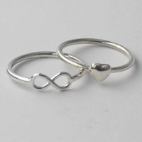 Infinity Sign Ring  925 sterling silver Ring by HeartCoreDesign