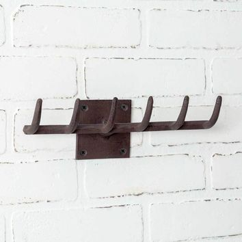Vintage Rake Wall Rack - Set of 2