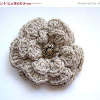 Flower Hair ClipBeige by PurrdyInPinkDesigns