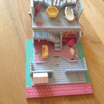 vintage polly pocket pet house and extra pet house