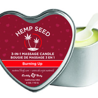 3-In-1 Heart Massage Candle With Hemp - Burning Up (4.7 oz.)