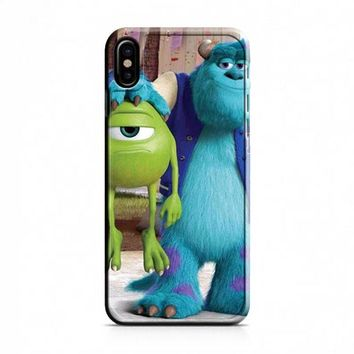 Monsters Inc sulley holding mike iPhone X Case