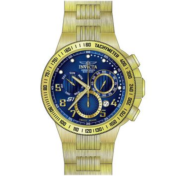 Invicta 15444 Men's S1 Rally Blue Dial Rose Gold Steel Bracelet Chronograph Watch