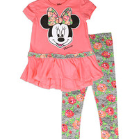 Minnie Mouse Floral Tee & Leggings - Infant & Toddler | zulily