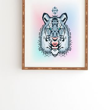 Chobopop Snow Tiger Framed Wall Art