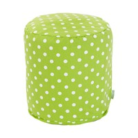 Small Printed Pouf - Small Polka Dots - Lime