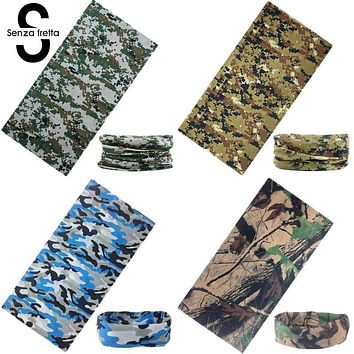 Senza Fretta Printed Men Face Mask Warmer Bandana Head Wear Snood Handkerchief Multi-Function Camo Tube Scarf Headband D01843