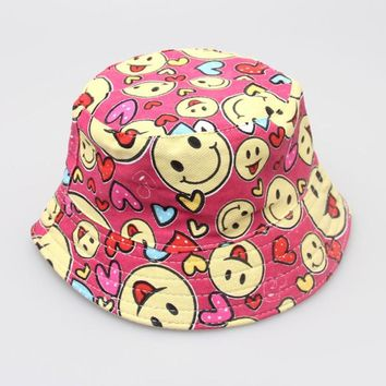 New Arrival Baby Kids Sun Hats Boys Girls Floral Pattern Bucket Hats Sun Helmet Cap High Quality Sunhat Popular Chapeau Dicer
