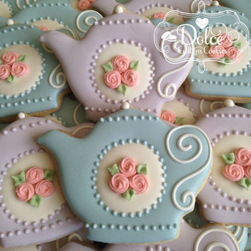 Teapot Tea Party Tea Set Bridal Shower Bridal Tea Birthday Cookies