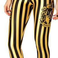 Yellow Hufflepuff Black Stripes Sexy Leggings Women Fitness Workout High Waist Bodybuilding Long Pants Spring Bulk Leggings 4XL