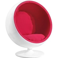Mib Swivel Chair, Red - Zuo Modern
