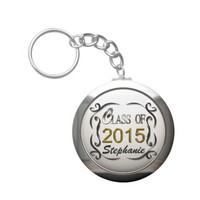 Add Name Class Of 2015 Graduation Keychain Key Chain