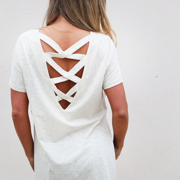 Ladder Back Side Show Top {Oatmeal}