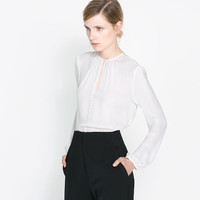 BLOUSE WITH BUTTONS - Blouses - Shirts - Woman | ZARA United States