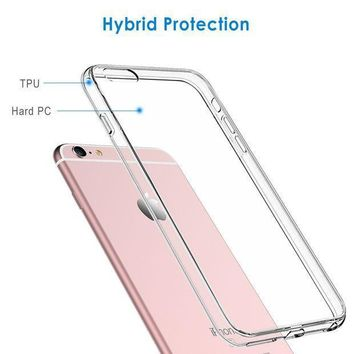 Jetech Case For Apple Iphone 6 And Iphone 6s Shock Absorption Bumper Cover Anti Scratch Clear Back Hd Clear