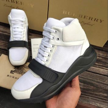 BURBERRY Slender contour sports shoes-4