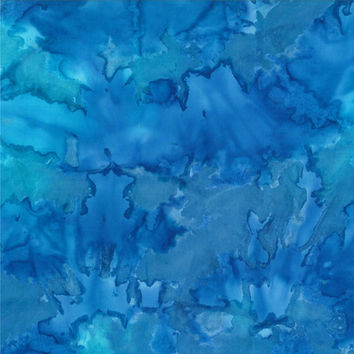 Blue Batik Fabric, by the yard, Xanadu Ocean by Moda Fabrics