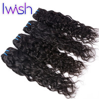 Online Shop 4 Bundles Brazilian Water Wave Virgin Hair Unprocessed Human Hair Weave Brazilian Virgin Hair Water Wave Iwish Hair Extensions | Aliexpress Mobile
