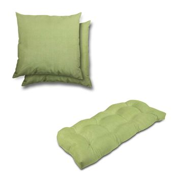 Stratford Home Indoor/ Outdoor Sunbrella Pillows and Bench Cushion Set (Parrot)