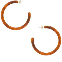 Ettika Tortoise Hoops in Brown
