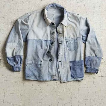 Vintage French Indigo Denim Jacket- Assorted One