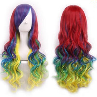 Ombre Cosplay Wig Red Yellow