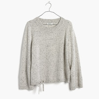 Cashmere Flare-Sleeve Crop Sweater