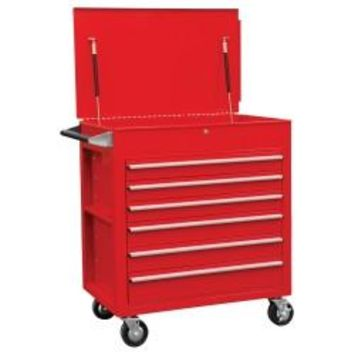 SUNEX Full Drawer Professional Duty Cart-Red SUN8057