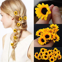 5Pcs  Boho Flower Daisy Hair Cuff Clip Headband Hair Pin Accessories Slide = 1930216068