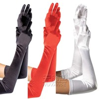 Super Quality women Smooth Satin Silk Comfortable long gloves novelty mittens in Party