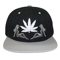 Loyal Cloth Weed Marijuana 2 Girls Snapback Design Cap