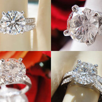2.32CT EGL USA Certified and Appraised Round Brilliant Diamond Engagement Ring