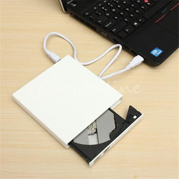 New USB 2.0 External Optical DVD Drive Combo CD RW Burner Writer Recorder Portatil DVD ROM Player for Laptop pc Windows 7/8