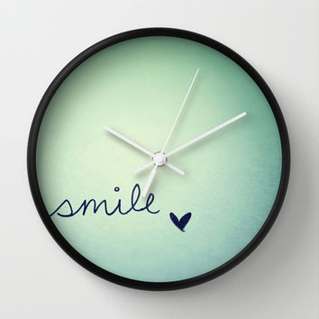 s  m  i  l  e  Wall Clock by rubybirdie