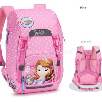 School Backpack New Fashion Sofia the First Princess Girls Students School Bags Kids Backpack Bag For Children AT_48_3
