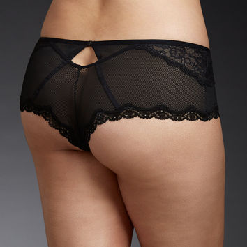 Mesh & Lace Harness Back Cheeky Panty