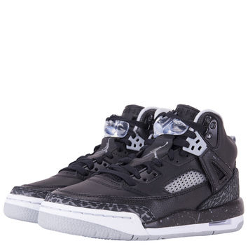 SHOES - KIDS - GRADE SCHOOL - Jordan Kids Spizike Grade School - Black Cool Grey Wolf Grey - Buy Online at DTLR
