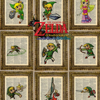 Legend of Zelda Wind Waker Dictionary Art Series