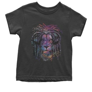 Galaxy Print DJ Lion Youth T-shirt