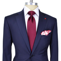 Isaia Solid Navy Suit