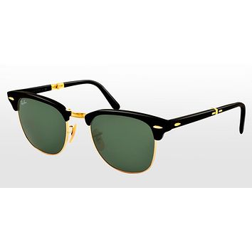 Beauty Ticks Ray Ban Clubmaster Folding Sunglasses
