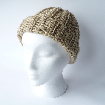 Hat Chunky Hat Chunky Knitwear Handmade White Hat Knit Hat Crochet Hat Bulky Hat Handknitted Hat Hand Knitted Beanie Winter Hat Warm Cozy