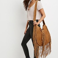 Raj Fringed Suede Messenger Bag