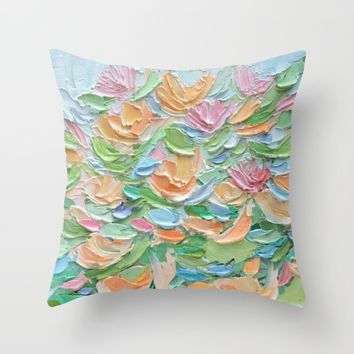 Nymphaea Aurora Throw Pillow by Ann Marie Coolick